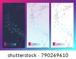 modern set of vector flyers.... | Shutterstock .eps vector #790269610