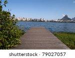 Lake in Rio de Janeiro, Brazil - stock photo