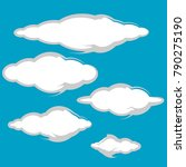 collection of clouds icon... | Shutterstock .eps vector #790275190