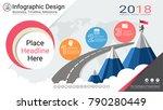 business infographics report ... | Shutterstock .eps vector #790280449