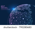 point and line composed world... | Shutterstock .eps vector #790280683