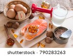 natural source of vitamin d in... | Shutterstock . vector #790283263