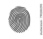 finger print symbol | Shutterstock .eps vector #790283290