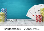 3d rendering of a stacks of... | Shutterstock . vector #790284913