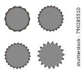 set of vector starburst ... | Shutterstock .eps vector #790285510