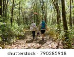 young family hiking in the...   Shutterstock . vector #790285918