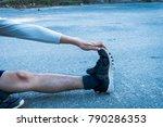 exercise fitness training... | Shutterstock . vector #790286353