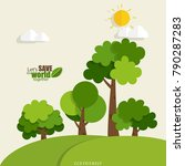 eco friendly. ecology concept... | Shutterstock .eps vector #790287283