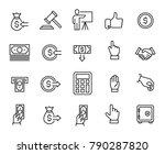 simple collection of auction... | Shutterstock .eps vector #790287820