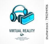 virtual reality glasses icon in ... | Shutterstock .eps vector #790294906