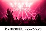happy people dance in nightclub ... | Shutterstock . vector #790297309