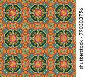 vector floral medallions... | Shutterstock .eps vector #790303756