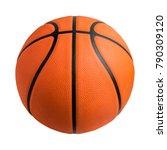 basketball ball over white... | Shutterstock . vector #790309120