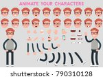 character creation set with... | Shutterstock .eps vector #790310128