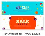 creative banners set with... | Shutterstock .eps vector #790312336