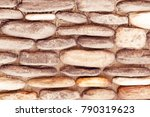 brown stone wall  background ... | Shutterstock . vector #790319623