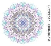 vector indian ornament mandala   Shutterstock .eps vector #790321144