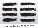 grunge paint lines.vector brush ... | Shutterstock .eps vector #790321570