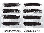 grunge paint lines.vector brush ... | Shutterstock .eps vector #790321570