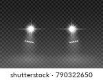 car light flash effect on... | Shutterstock .eps vector #790322650