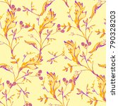 seamless floral pattern with... | Shutterstock . vector #790328203