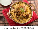 spicy and delicious mutton... | Shutterstock . vector #790330249