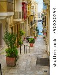 medieval old town typical... | Shutterstock . vector #790330294