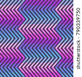 abstract zigzag seamless... | Shutterstock .eps vector #790339750
