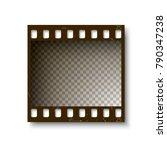 realistic retro frame of 35 mm... | Shutterstock .eps vector #790347238