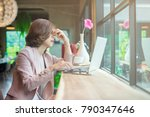 portrait of young asian... | Shutterstock . vector #790347646