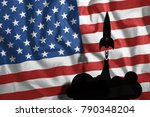 the flying rockets against the... | Shutterstock . vector #790348204