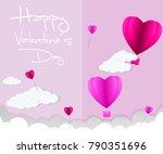 love invitation card valentine... | Shutterstock .eps vector #790351696