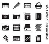 solid black vector icon set  ... | Shutterstock .eps vector #790351726
