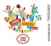 circus artists. horse... | Shutterstock .eps vector #790352803