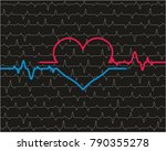 heart pulse background | Shutterstock .eps vector #790355278