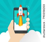 startup vector concept  flat... | Shutterstock .eps vector #790358203
