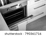 new electric oven in kitchen | Shutterstock . vector #790361716