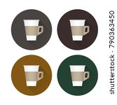 coffee flat icons vector.... | Shutterstock .eps vector #790363450