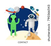 space contact vector image | Shutterstock .eps vector #790366543