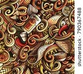 cartoon cute doodles mexican... | Shutterstock .eps vector #790367488