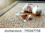 garlic. garlic cloves and...   Shutterstock . vector #790367758