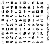 power icons. set of 100... | Shutterstock .eps vector #790372480