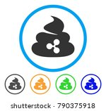 ripple shit rounded icon. style ... | Shutterstock .eps vector #790375918