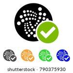 valid iota icon. vector... | Shutterstock .eps vector #790375930