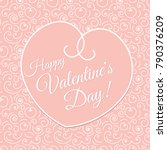 happy valentine day vector... | Shutterstock .eps vector #790376209