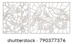 set contour illustrations of... | Shutterstock .eps vector #790377376