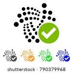 valid iota icon. vector... | Shutterstock .eps vector #790379968