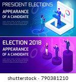 advertising concept isometrics  ... | Shutterstock .eps vector #790381210