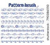 set of vector pattern brush for ... | Shutterstock .eps vector #790386550