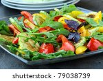 salad with grilled vegetables   ... | Shutterstock . vector #79038739